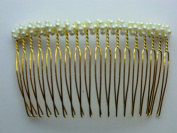 Charles J. Wahba - Medium wire Side Comb - Pearl beads