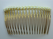 Charles J. Wahba - Medium wire Side Comb - Pearl beads