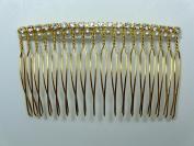 Charles J. Wahba - Medium wire Side Comb - Rhinestones/Pearl beads