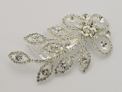 Elegant Faux Floral Rhinestone Hair Comb for Wedding, Prom, Pageant, Quinceañera or Other Special Event