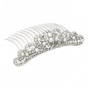 Bridal Wedding Jewellery Crystal Rhinestone Elegant Mid Size Crown Hair Tiara Comb