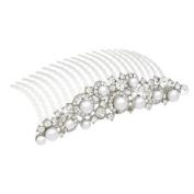 Bridal Wedding Jewellery Crystal Rhinestone Elegant Mid Size Dot Hair Tiara Comb
