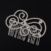 Swirly Cloud Rhinestone Bridal Decorative Comb