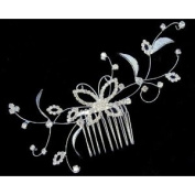 Bridal Wedding Beautiful Elegant Crystal Handmade Butterfly and Leaves Hair Comb
