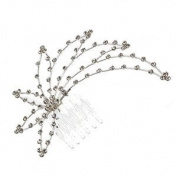 Weigela Silver Crystal Hair Comb