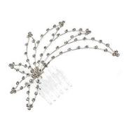 Weigela Silver Crystal Hair Comb