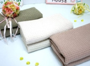 Fina Ultra Absorbent Waffle Weave Microfiber Hair and Body Towel in White colour