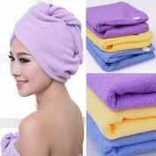 Microfiber Hair Towels / Turbans / Wraps - Set of 2