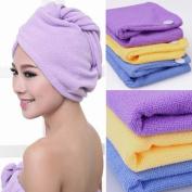 Microfiber Hair Towels / Turbans / Wraps - Set of 2