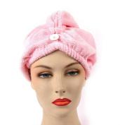 Girlfriend! Microfiber Hair Turban-Pink