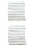 24 Pack Economy White Salon Towels