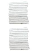 24 Pack Economy White Salon Towels