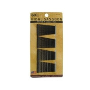 Vidal Sassoon Bobby Pins, Black, 60 Count