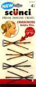 4 Pc 5cm Scunci No Slip Grip Criss Cross Bobby Pins