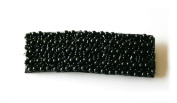 Black Beads Rectangular Hairpin