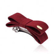 Imitation it fabric Solid colour Bow hair accessories Hairpin Top clip Barrette