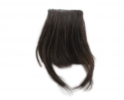 Fashion 1 pcs Cute Clip On Clip In Front Bangs Wig Front Hair Bangs Fringe Hair Extension dark Brown A