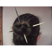Set of Two Huge African Porcupine Quills Hair Stick 10-27.9cm long