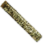 3 Row Metallic Stretch Sequin Headband