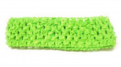 3.8cm Lime Green Crochet Headband Stretch and Soft for baby girls
