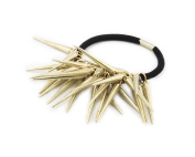 Fashion Personality Punk Rock Gothic Gold Tone Rivets Spike Hair Ponytail Band Holder Hairband Headband