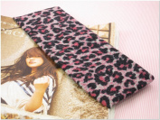 Pink Leopard Animal Print Stretchy Hair Band for Women or Girl Fashion Accessories