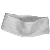 Kingsley Waffle Weave Head Band with hook and loop Closure, White
