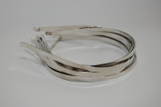 "6mm (1/4"" or .25"") Metal Headband - Silver"
