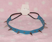Blue-cool Stud Spike Rivet Bracelet/necklace/headband with Mult-function