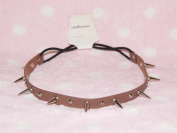 Brown-cool Stud Spike Rivet Bracelet/necklace/headband with Mult-function