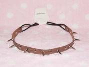 Brown-cool Stud Spike Rivet Bracelet/necklace/headband with Mult-function