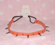 Orange-cool Stud Spike Rivet Bracelet/necklace/headband with Mult-function