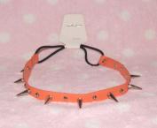 Orange-cool Stud Spike Rivet Bracelet/necklace/headband with Mult-function