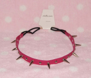 Pink-cool Stud Spike Rivet Bracelet/necklace/headband with Mult-function