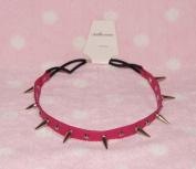 Pink-cool Stud Spike Rivet Bracelet/necklace/headband with Mult-function
