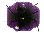 Simplicity Headband Decor Bow Feather Jewel Black