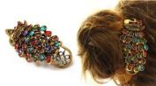 Crystal Peacock Hair Clip