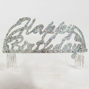 Happy Birthday Script Glitter Tiara