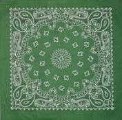 Hunter Green Paisley Stylish Cotton Bandana