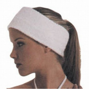 Canyon Rose Terry Spa hook and loop Headband 7.6cm Wide White