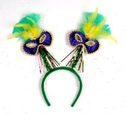Beistle - 60781 - Mardi Gras Mask with Feathers Boppers- Pack of 12