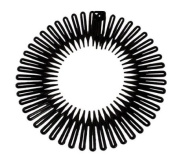 Caravan Full Circle Spring Head Band Comb In Classic Black With Deep Teeth And Closure