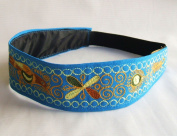 New Embroidery Stretch Teal Headband