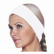 Scalpmaster Waffle Weave hook and loop Spa Headband White