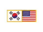 Korean & U.S. American Flag Patch