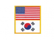 U.S. America & Korea Flag Patch