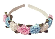 Multi-coloured Rose Flowered Headband
