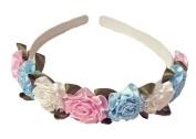 Multi-coloured Rose Flowered Headband