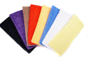 Colour Terry Cloth Youth Sports Sweatband Headband, Pack of 8
