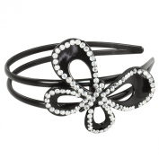 Kate Marie Stylish Headband HDBD-BKBTF001 Ornament Embellished with Stunning Rhinestone